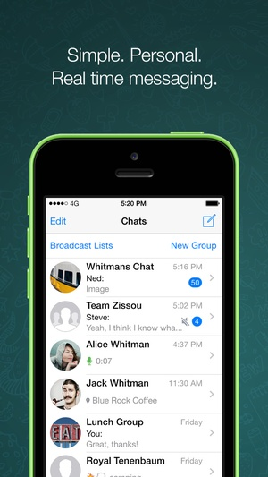 Screenshot WhatsApp on iPhone