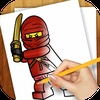 Learn How To Draw : Lego Ninjago