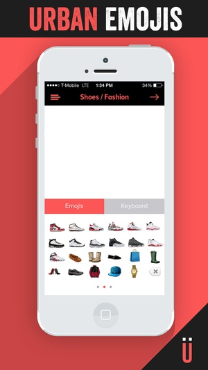 Screenshot Urban Emoji on iPhone