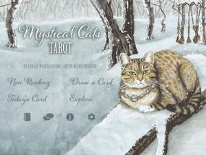 Screenshot Mystical Cats Tarot on iPad