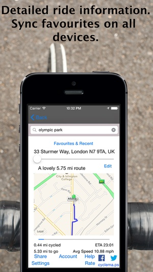 Screenshot CycleMaps: Cycling Route Planner & Navigator on iPhone