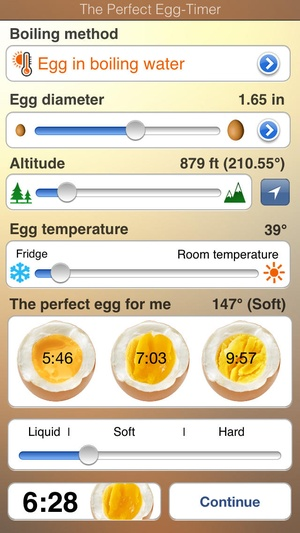 Screenshot The perfect Egg timer on iPhone