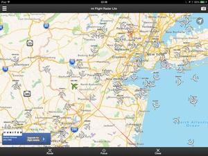 Screenshot mi Flight Radar Lite on iPad
