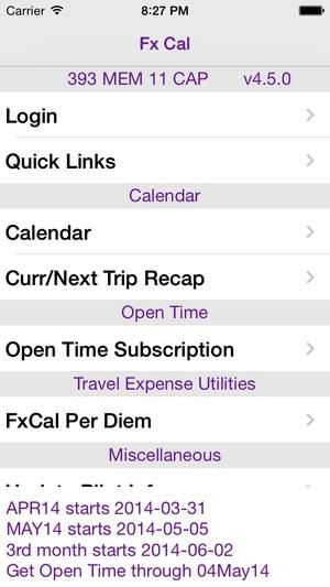 Screenshot Fx Cal on iPhone