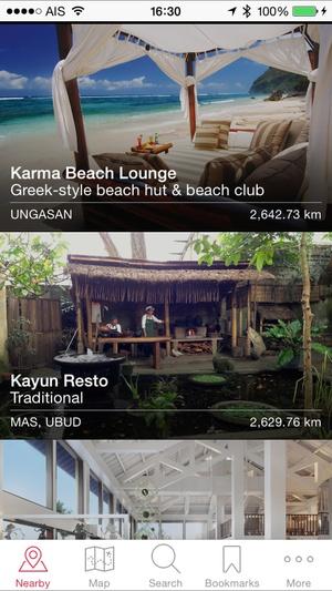 Screenshot Bali Secrets on iPhone
