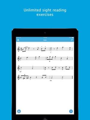 Screenshot Sight Reading Machine on iPad