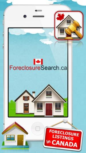 Screenshot Foreclosure Canada on iPhone