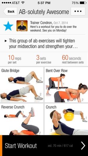 Screenshot FitnessBuilder on iPhone