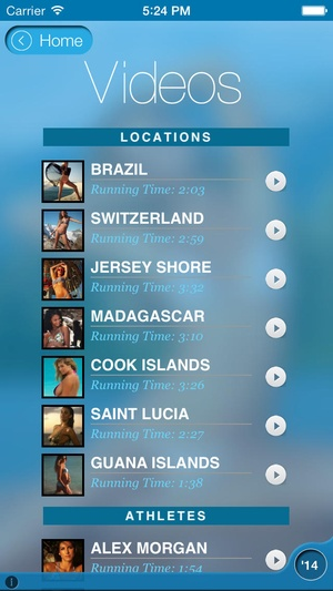 Screenshot Sports Illustrated Swimsuit 2014 on iPhone