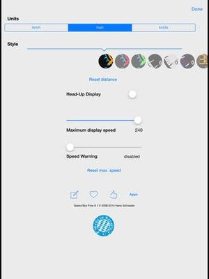 Screenshot Speedometer Free Speed Box on iPad