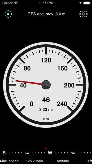 Screenshot Speedometer Free Speed Box on iPhone