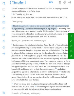Screenshot Bible Gateway on iPad