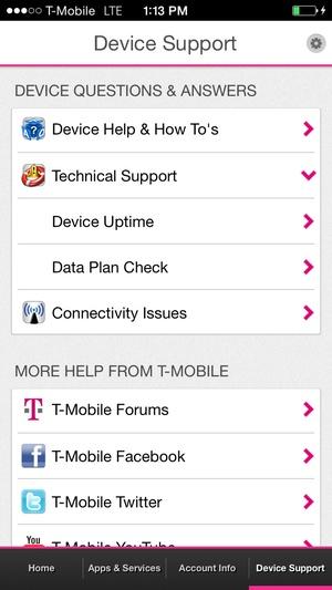 Screenshot T on iPhone