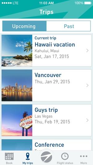 Screenshot WestJet on iPhone