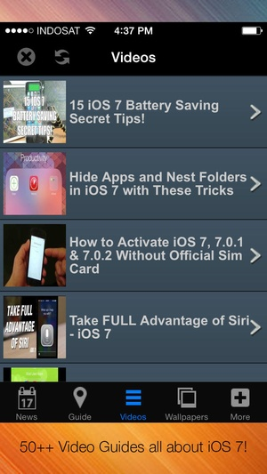 Screenshot GUIDE 360 for iOS 7 & iPhone 5s Users on iPhone