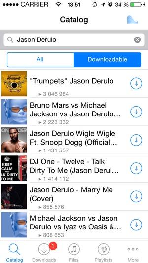 Screenshot Free Music Download SoundCloud on iPhone