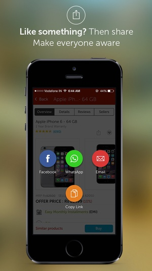Screenshot Snapdeal on iPhone