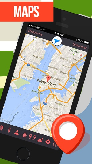 Screenshot GPS Navigation for Google Maps on iPhone
