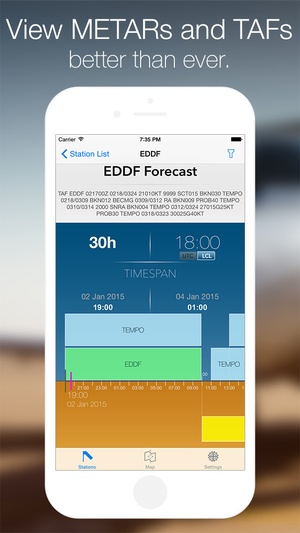 Screenshot Station Weather on iPhone