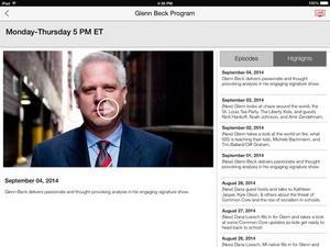 Screenshot TheBlaze on iPad