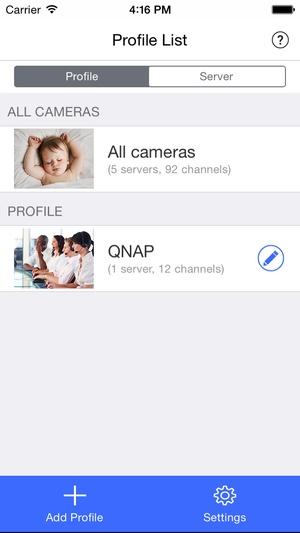 Screenshot Vmobile on iPhone