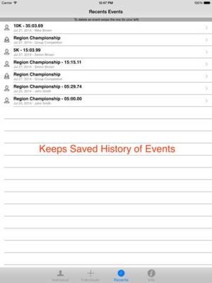 Screenshot StopWatch for Cross Country & Road Races on iPad