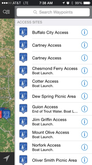 Screenshot Trout Stream GPS on iPhone