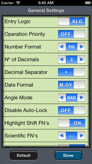 Screenshot RLM on iPhone