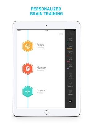 Screenshot Elevate on iPad