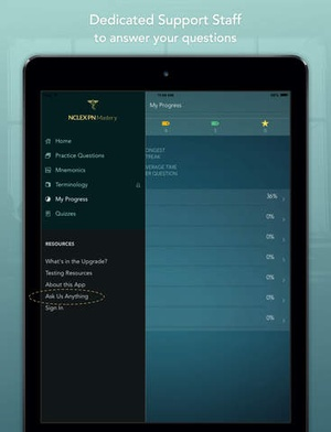 Screenshot NCLEX PN Mastery on iPad