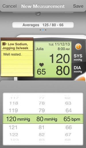 Screenshot Blood Pressure Lite on iPhone