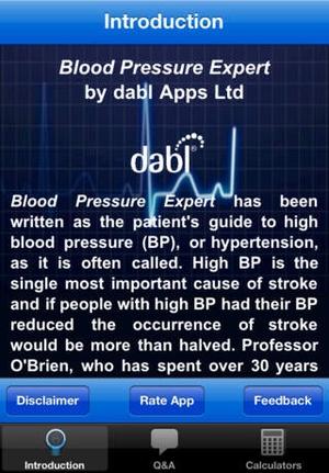 Screenshot Blood Pressure Expert on iPhone