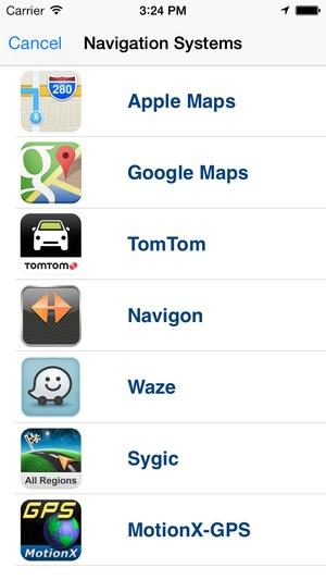 Screenshot Go gps app for navigators on iPhone