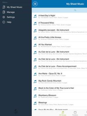 Screenshot Musicnotes Player on iPad
