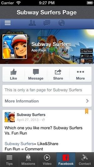 Screenshot unofficial Subway Surfers Cheats&Complete Subway Surfers Cheats, Tips, and Game Guide! on iPhone
