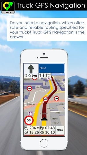 Screenshot Truck GPS Navigation & Maps on iPhone