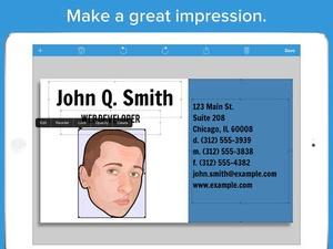 Screenshot BusinessCardMaker for iOS on iPad