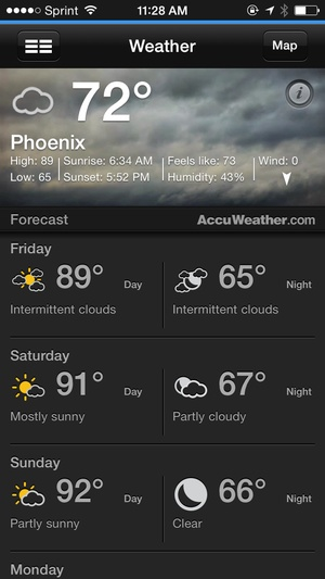 Screenshot azcentral for iPhone on iPhone