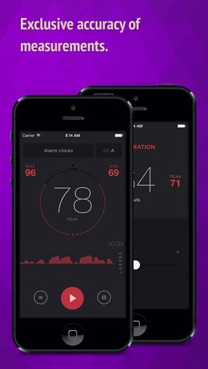 Screenshot dB Meter on iPhone