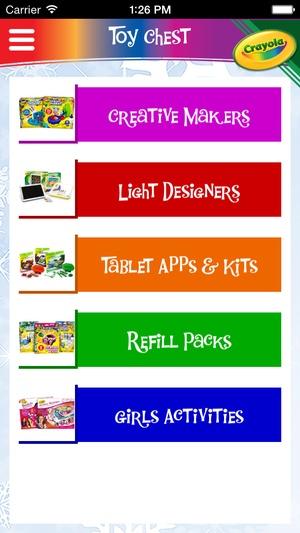 Screenshot Crayola Holiday Wish List on iPhone