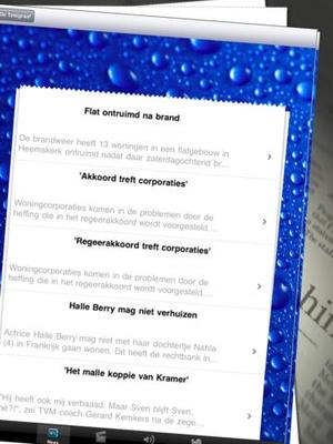 Screenshot Nederlandse Kranten | Holland Newspapers | Dutch Newspapers on iPad