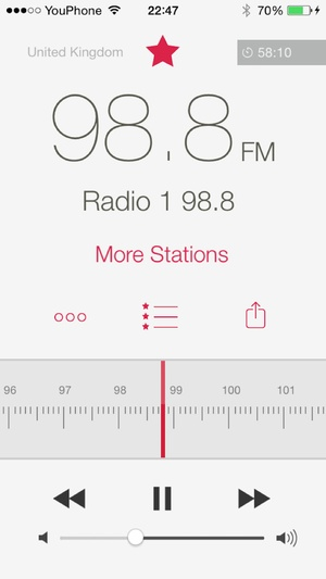 Screenshot RadioApp on iPhone