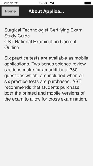 Screenshot AST Study Guide 3rd Edition on iPhone