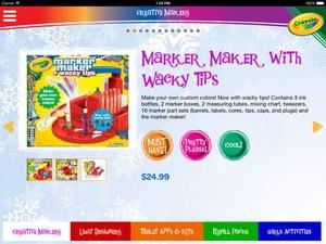 Screenshot Crayola Holiday Wish List on iPad