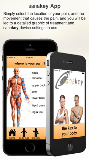 Screenshot sanakey: the key to your body on iPhone