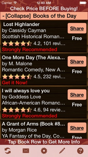 Screenshot Free Books for Kindle Fire, Free Books for Kindle Fire HD on iPhone