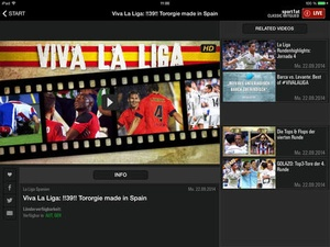 Screenshot LAOLA1.tv on iPad