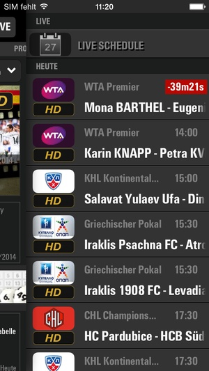 Screenshot LAOLA1.tv on iPhone