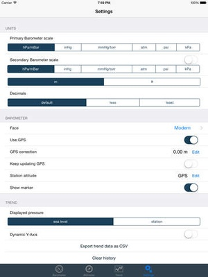 Screenshot Barometer & Altimeter for iPhone 6 / iPad Air 2 on iPad
