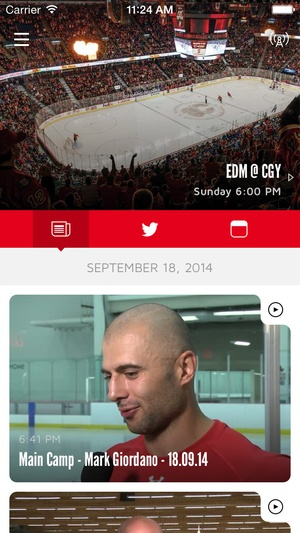 Screenshot Calgary Flames on iPhone